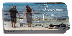 Family Time Is Sacred Time Portable Battery Charger