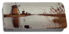 Famous Windmills At Kinderdijk, Netherlands Portable Battery Charger