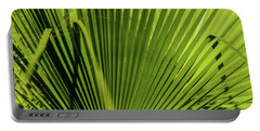 Fan Palm View 2 Portable Battery Charger by James Gay