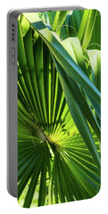 Fan Palm View 3 Portable Battery Charger by James Gay