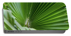 Fan Palm View 4 Portable Battery Charger by James Gay