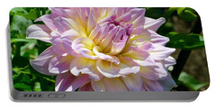 Fancy Dahlia In Pinks Portable Battery Charger