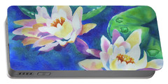 Fancy Waterlilies Portable Battery Charger
