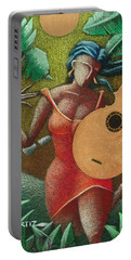Portable Battery Charger featuring the painting Fantasia Boricua by Oscar Ortiz