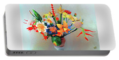 Fantastic Flowers Of The South Pacific Portable Battery Charger