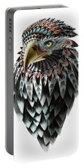 Portable Battery Charger featuring the painting Fantasy Eagle by Sassan Filsoof
