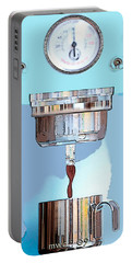 Portable Battery Charger featuring the painting Fantasy Espresso Machine by Marian Cates