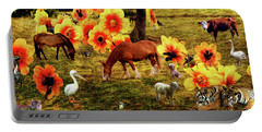 Fantasy Farm Portable Battery Charger by Judi Saunders