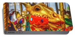 Fantasy Giraffe Carrousel Ride Portable Battery Charger
