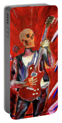 Fantasy Heavy Metal Skull Guitarist Portable Battery Charger