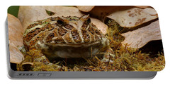 Portable Battery Charger featuring the photograph Fantasy - Horned Frog by Nikolyn McDonald