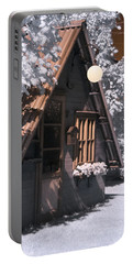 Portable Battery Charger featuring the photograph Fantasy Wooden House by Helga Novelli