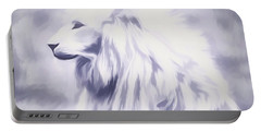Fantasy White Lion Portable Battery Charger