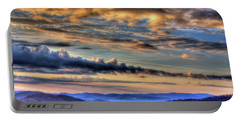 Far Blue Mountains Portable Battery Charger by Dale R Carlson