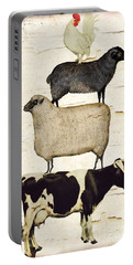 Farm Animals Pileup Portable Battery Charger