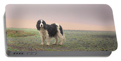 Farm Dog In Fog Portable Battery Charger