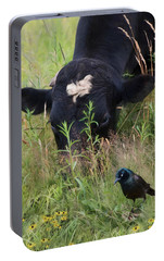 Portable Battery Charger featuring the photograph Farm Friends by Robin-Lee Vieira