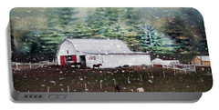 Portable Battery Charger featuring the photograph Farm Life by Darren Fisher