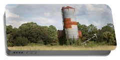 Farm Life - Retired Silo Portable Battery Charger by Christopher L Thomley