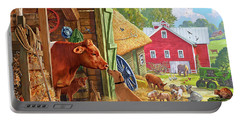 Farm Scene In America Portable Battery Charger