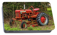Portable Battery Charger featuring the photograph Farmall Cub by Christopher Holmes