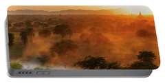 Portable Battery Charger featuring the photograph Farmer Returning To Village In The Evening by Pradeep Raja Prints