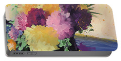 Farmer's Market Flowers Portable Battery Charger by Terri Einer