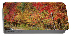 Portable Battery Charger featuring the photograph Farmers Path Of Fall Colors by Jeff Folger