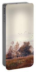 Portable Battery Charger featuring the photograph Farmhouse And Windmill by Jill Battaglia