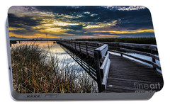 Portable Battery Charger featuring the photograph Farmington Bay Sunset - Great Salt Lake by Gary Whitton