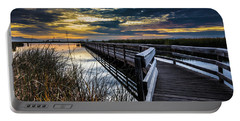 Farmington Bay Sunset - Great Salt Lake Portable Battery Charger