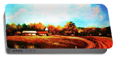 Farmland In Autumn Portable Battery Charger