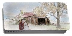 Farmstyle Snowman Portable Battery Charger by Mary Timman