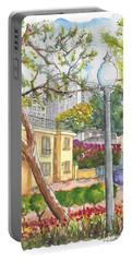 Farola In Roxbury Park, Beverly Hills, California Portable Battery Charger