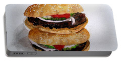 Fast Food Burgers Portable Battery Charger