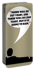 Fat Years - Mad Men Poster Don Draper Quote Portable Battery Charger