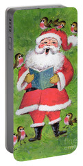 Father Christmas And Robin Chorus Portable Battery Charger