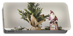 Portable Battery Charger featuring the photograph Father Christmas by Kim Hojnacki