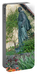 Father Junipero Serra Statue At Mission Carmel Portable Battery Charger
