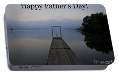 Portable Battery Charger featuring the photograph Father's Day Dock by Douglas Stucky