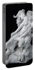 Faun And Nymph Portable Battery Charger by Auguste Rodin