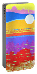 Fauvist Sunset Portable Battery Charger by Jeremy Aiyadurai