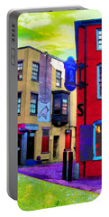 Faux Fauve Cityscape Portable Battery Charger