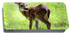 Fawn Deer In Field Oil Painting Portable Battery Charger
