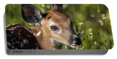 Fawn In Wildflowers Portable Battery Charger