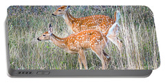 Fawns At Bigfork Portable Battery Charger