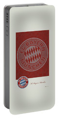 Fc Bayern Munich Logo And 3d Badge Portable Battery Charger by Serge Averbukh
