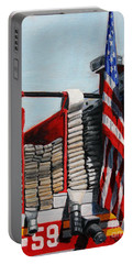 Fdny Engine 59 American Flag Portable Battery Charger