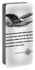 Fdr War Quote Portable Battery Charger