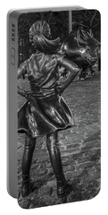 Fearless Girl And Charging Bull Nyc Portable Battery Charger